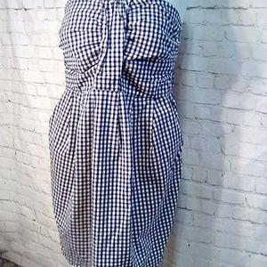 Torrid strapless dress size 14 Black & white check